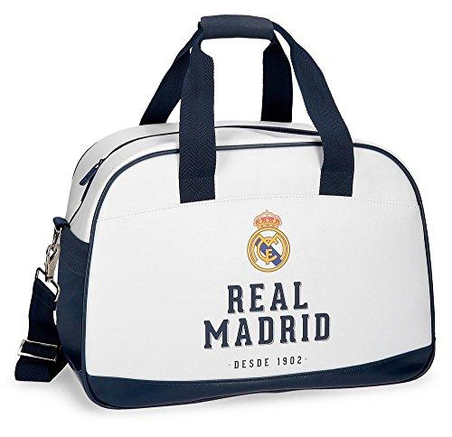 Real Madrid Rm Gol Bolsa de Viaje, 40 cm, 24.64 Litros, Blanco