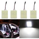 Grandview Super blanco bajo consumo 505048-SMD LED Panel cúpula lámpara auto coche interior lectura luz de techo placa techo interior Wired lamp-4pcs