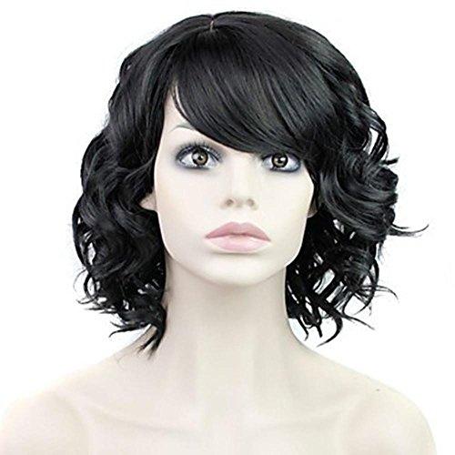 Alta qualità glamour donna corta parrucca riccia