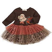 Princesa Vestido de Fiesta NiñaInfant Toddler Baby Girls Turkey Día de Acción de Gracias Gasa Tutu Dress Outfits Cloth