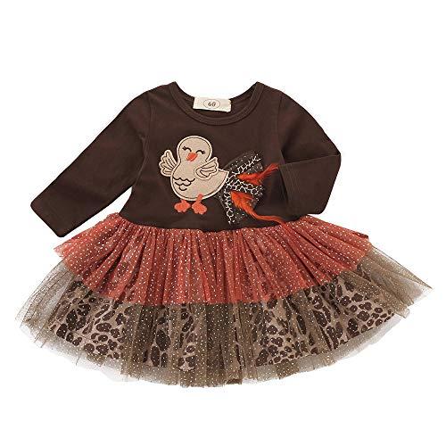 (Infant Kleinkind Baby Mädchen Truthahn Thanksgiving Day Gaze Tutu Kleid VENMO Outfits Tuch Geburtstags Kleid Sequin Prinzessin Partykleid Weihnachten Fotoshooting Kostüm Strampelanzug)