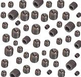 Madenschrauben-Set, metrisches Gewinde, hochfester Stahl (45 H), 40-teilig, M3/M4/M5/M6 x 8 mm (jeweils 10 Stück), mit Ringschneide, für Inbussc?hlüssel