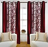 #6: Home Candy Leave 2 Piece Polyester Window Curtain Set - 60