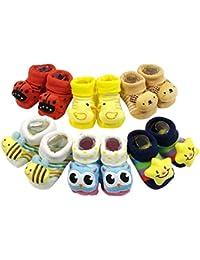 ShopCash Cute Fancy Booties Socks (0-3 Months) for Babies (Assorted Designs)