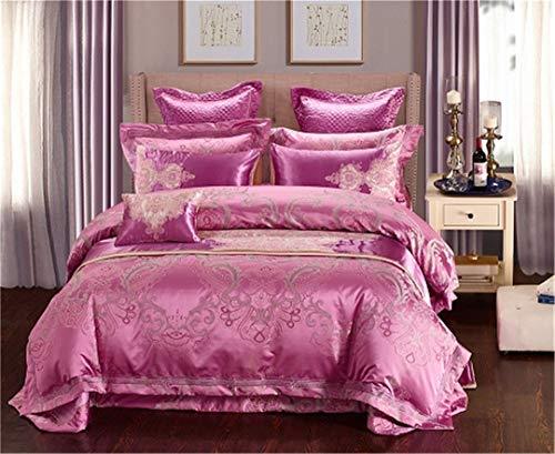 Luxus Bettwäsche-Sets King Size Queen-Size-Bett Set Bettbezug Baumwolle Flachbettlaken Set Kissenbezug 5 Queen Size 6pcs ()