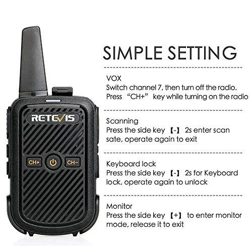 Zoom IMG-1 retevis rt15 mini walkie talkie