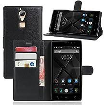 Guran® Funda de Cuero Para Doogee F5 Smartphone Tirón de la Cubierta de la Función de Ranura Tarjetas y Efectivo Caso