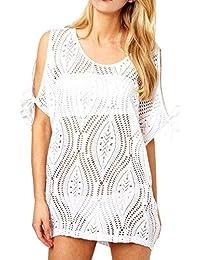Ladies Beach Dress Bikini Cover Summer dress Lace Sexy Cover up Kaftan Swimwear Sarong