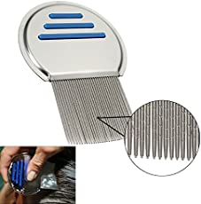 Generic Stainless Steel Fine Egg Dust Removal Hair Lice Comb Brushes with Nit-Free Terminator