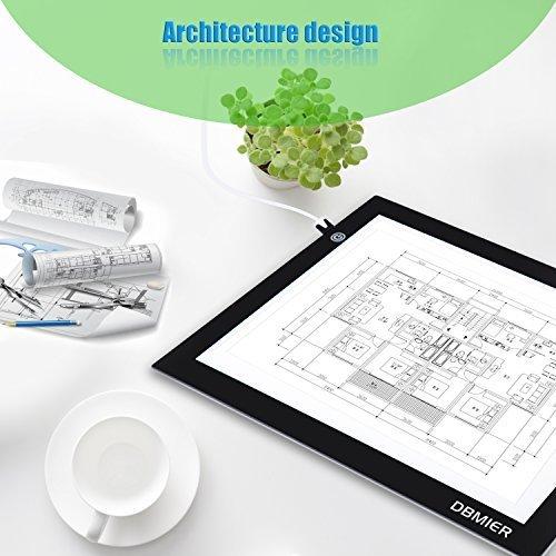 """Kopie Platte A4S Extra dünner USB Aufladung Kunsthandwerk Durchpausen Transparente Weißplatte Geeignet für: Malerei Durchpausen Skizze Animation Die gültige Anzeigefläche: 8.27"""" X 12.20"""""""