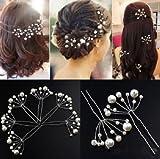 Accessoires cheveux coiffure mariage: 1 épingle à chignon perles blanches forme éventail...