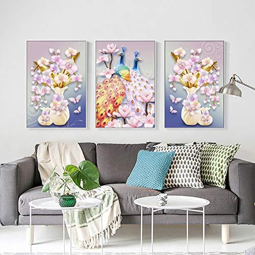 zlhcich Moderne minimalistische Pfaumagnolie Nordic dekorative Malerei Kern 1-187 60 * 80 Rahmenlos