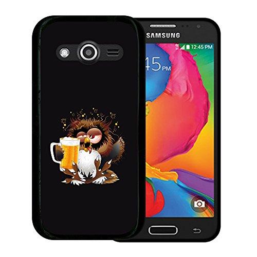 Samsung Galaxy Core LTE 4G SM-G386F - Avant G386T Hülle, WoowCase Handyhülle Silikon für [ Samsung Galaxy Core LTE 4G SM-G386F - Avant G386T ] Eule und Kirsche Handytasche Handy Cover Case Schutzhülle Flexible TPU - Schwarz (Kirsche Avant)
