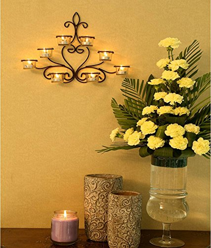 Hosley? 8 Cup Wall Sconce with Free Tealights