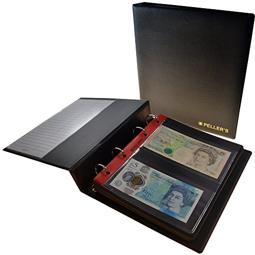 PELLER\'S | Sammelalbum für 20 Banknoten: 10 Säure- und weichmacherfreie Hüllen, Felder 143 x 80mm. Banknotenalbum M.