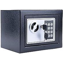 Hopekings Caja Fuerte Pequeña 230X170X170 mm, Caja Fuerte Electronica Con 4 Pilas, ...