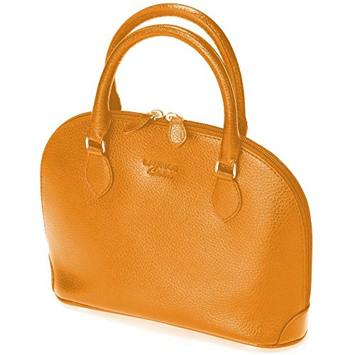 Mini sac New-york cuir Fabrication Luxe Française Orange