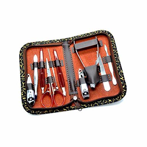 10 PCS En Acier Inoxydable Nail Tondeuses Set Nail Trimmer Kit Manucure Maquillage Cosmétique Outils