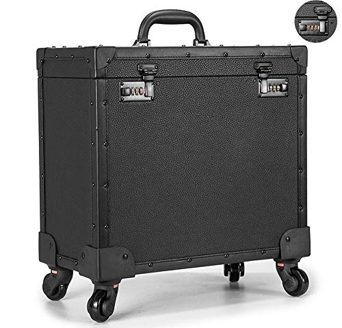 YLTTZ Nagel Techniker Trolley Kosmetik Beauty Trolley Box Reise Make-up Fall Lagerung Kosmetikkoffer Lagerung Friseur Veranstalter für Salon Beauty Studio (schwarz) -