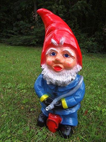 Gartenzwerg Feuerwehrmann | bruchfester PVC Zwerg | Made in Germany Figur