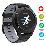 Smart Watch, altimetro/barometro/termometro per orologio sportivo GPS integrato, Activity Tracker in esecuzione, escursionismo, cardiofrequenzimetro IP67 impermeabile per uomo, donna, avventure