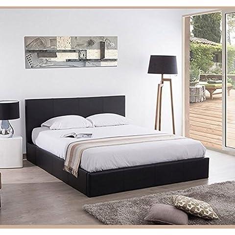 Muebles Bonitos – Cama con canapé de diseño Magali en color negro 150X190