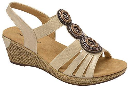 Dunlop con Cinturino Dietro La Caviglia Donna Gold