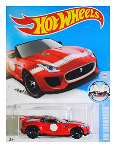 Hot Wheels, 2016 HW Showroom, '15 Jaguar F-Type Project 7 Convertible [Red] #111/250 by Mattel
