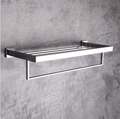 Perforación libre en el baño 304 toallero de acero inoxidable taco de inodoro de polo simple y doble engrosamiento Ganchos Sobre el gancho de la puerta Organizador Estante Colgante