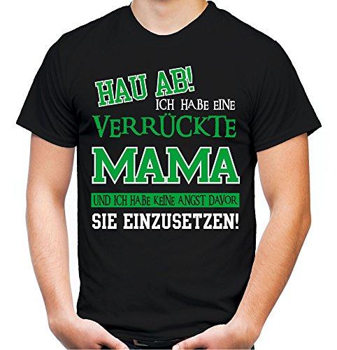 Verrückte Mama T-Shirt   Geburtstag   Geschenk   Geschenkidee   Sprüche   Zitate   Kostüm   Coole   Mama   Papa   Männer   Herren   Fun Schwarz