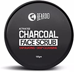Beardo Activated Charcoal Deep Cleansing Face Scrub, 100g