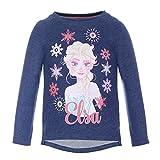 Disney-Die Eiskönigin Mädchen Sweatshirt 73657, Blau (Dunkelblau 781), 98