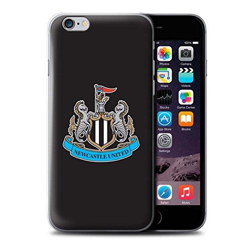 Officiel Newcastle United FC Coque / Etui pour Apple iPhone 6+/Plus 5.5 / Mono/Blanc Design / NUFC Crête Football Collection Couleur/Noir