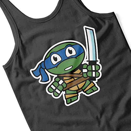 Mitesized Leonardo Teenage Mutant Ninja Turtles Men's Vest Black