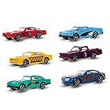 Goolsky 6pcs 1: 64 Skala Druckguss-Slide Racing Cars Adavanced Legierung Simulation Modell-Miniatur-Autos für Kinder