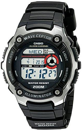 Casio WV200A-1A Men's Waveceptor Timekeeping Atomic Illuminator Chrono Digital Sport Watch (Casio Uhren Atomic)