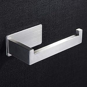 Toilettenpapierhalter ohne bohren, Selbstklebend Klopapierhalter Edelstahl WC Papierhalter für Badezimmer