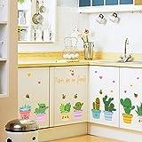Weaeo Bonsai Wandhalterung Küchenschränke Glastüren Mit Einer Selbstklebenden Pvc-Aufkleber