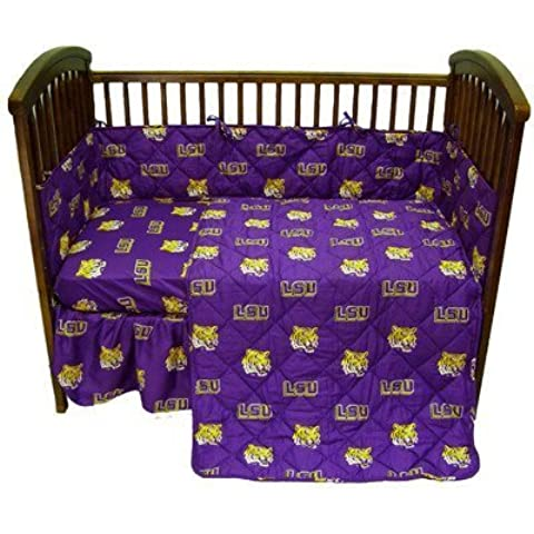 Bundle-29 Louisiana State University Crib Bedding Set by College