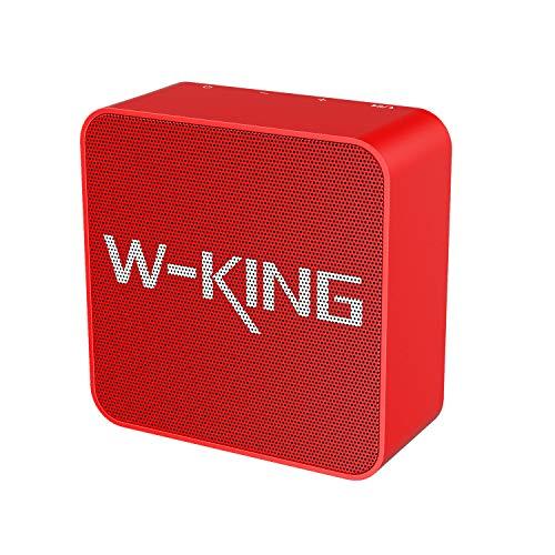 W-KING Altavoz Bluetooth, Altavoz Bluetooth inalámbrico de 5W con tiempo de reproducción...