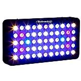 Roleadro LED Acuario 165W Con Perilla Regulable,Luz Acuario 7 Banda Espectro Iluminacion Led para...
