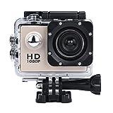 Bluestercool Actionkamera, 1080P Voll HD Mini wasserdichte Sportkamera (Gold)