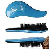2 pezzi Districanti DEtangleR Tangle Master spazzola per capelli colore bianco o rosa o blu spazzola per districare, Colore Blu
