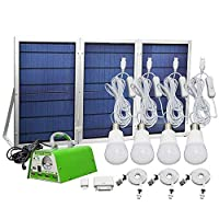 [30W Foldable Solar Panel ] YINGHAO Solar Panel Lighting Kit, Solar Home DC System Kit 1