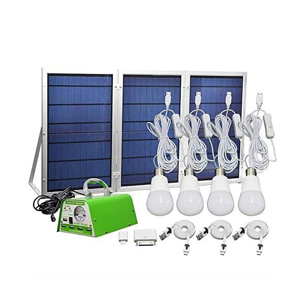 [30W Foldable Solar Panel ] YINGHAO Solar Panel Lighting Kit, Solar Home DC System Kit 1