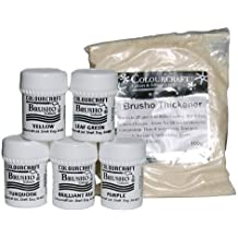 Brusho Crystal Colour Set- 5 x 15g pot + thickener - Bright colours