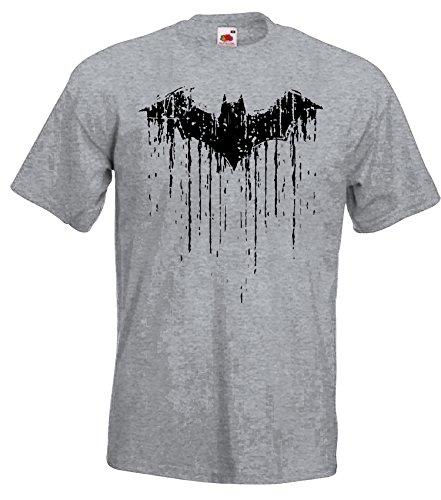 TRVPPY Herren T-Shirt Modell Vintage Batman 2, Grau-Meliert, 4XL (Emo T-shirt Krieg)