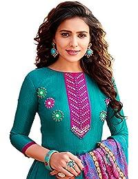 KINJAL CREATION Firozi Color Latest Designer Party Wear, Traditional Anarkali Salwar Suit/ Long Gown With Dupatta...