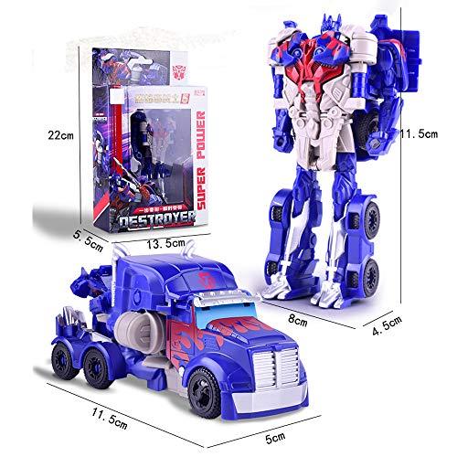 Amazon Sty Mini Deformation Car Robot Toy, Robot Deformation Car, Car Toys Inertial Transformation Robots Toys, Model Vehicle for Kids (Trailer Deformer)