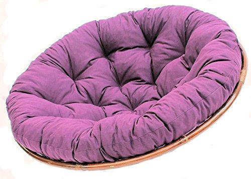 Polster für Papasansessel , Ersatzpolster Papasan D 120 cm , Stoff dunkel violett